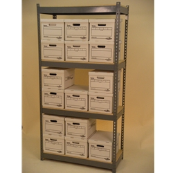 box-storage-shelving-42X15X7-tall-shelving-unit-4-levels-double-stacked