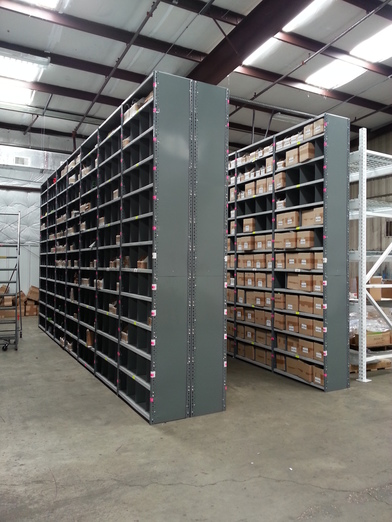 dixie box storage shelving